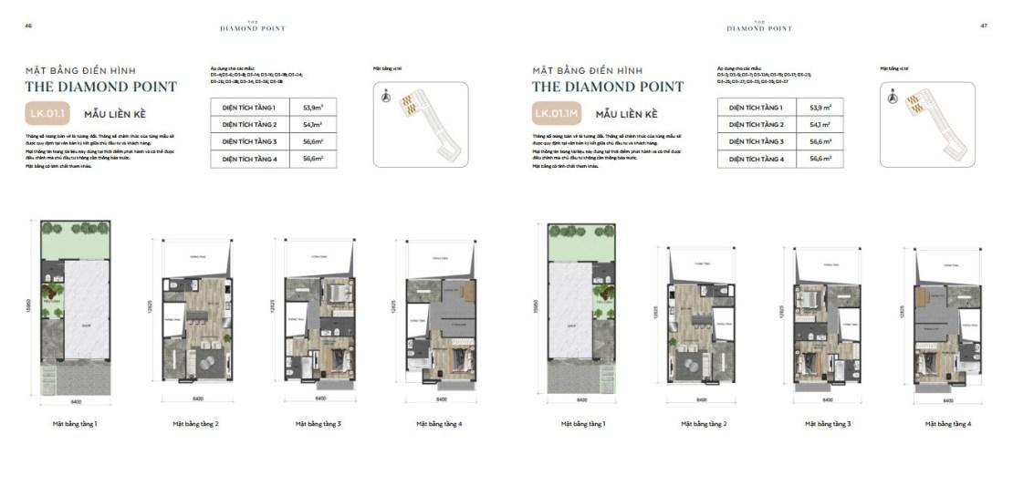 thiết kế liền kề the diamond point phúc đồng
