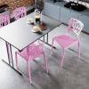 inca staplingsbar stol cafémöbler restaurangmöbler rosa