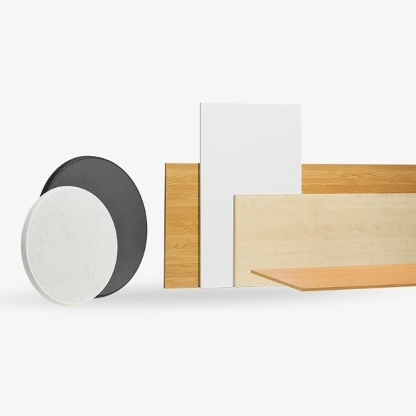 bordskivor, ek, bok, vit, björk, laminat, vit, svart, rund, rektangel