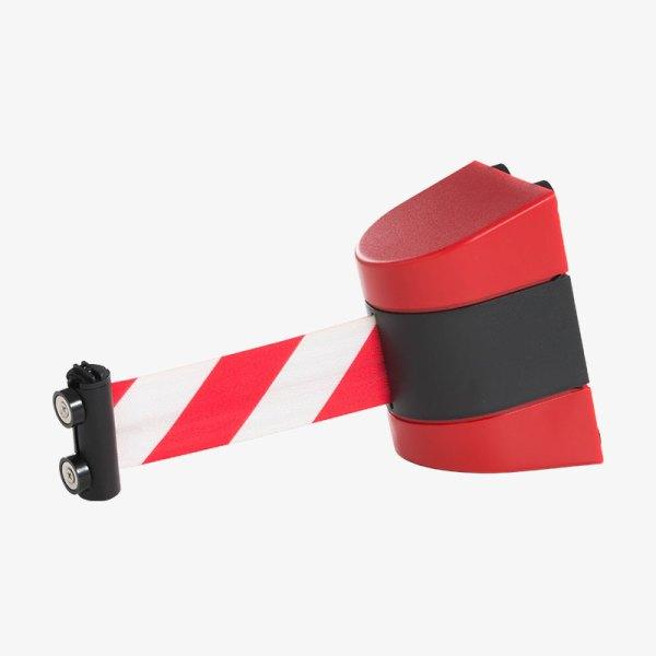 Väggkassett Plast - rött platsskal, rödvit band - Band