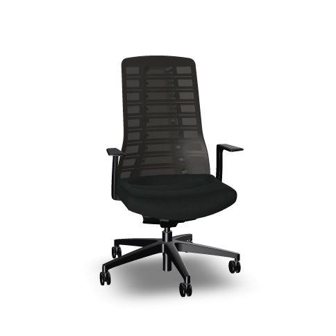 svart ergonomisk kontorsstol pureis3 interstuhl