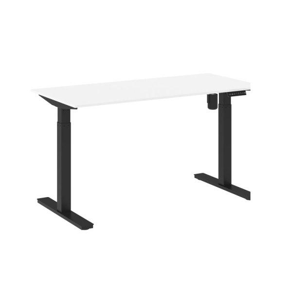 höj sänkbart skrivbord vit svart