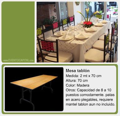 Alquiler de menaje mesas sillas y mantelera  Banquetes