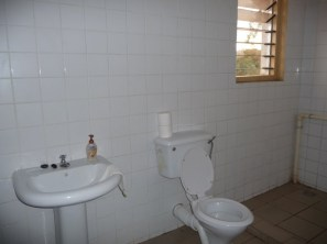 New toilet and wash basin in the guest suite