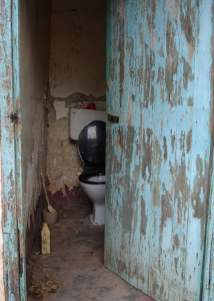 Condemned toilet block