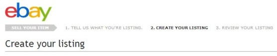 Create your listing - Ebay