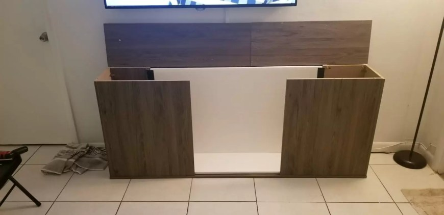 finished terrarium entertainment center frame