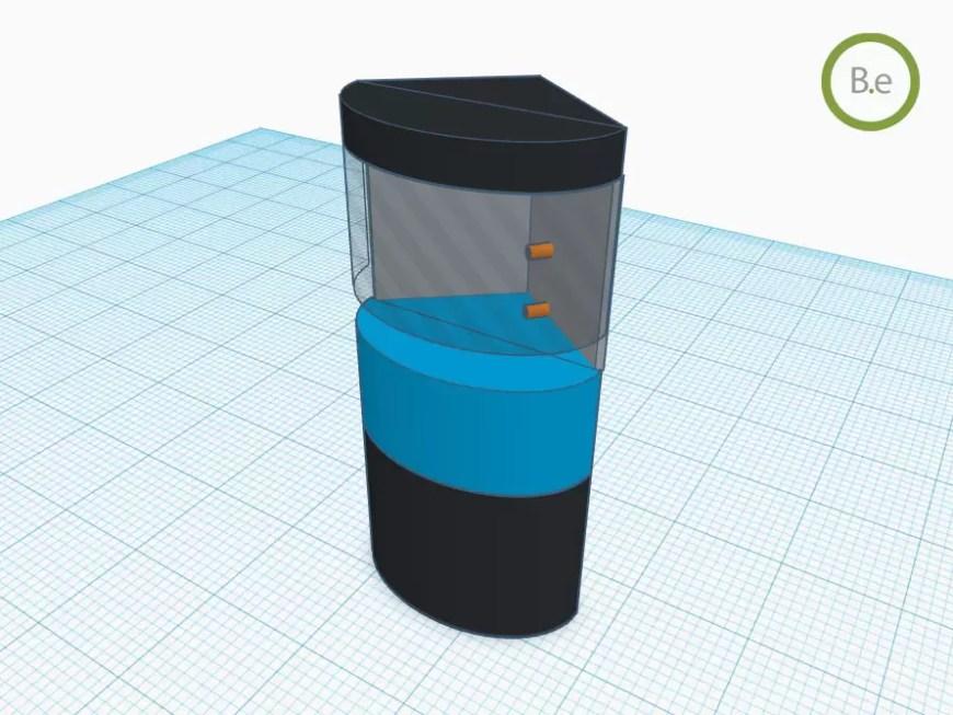 3d design of the DIY paludarium