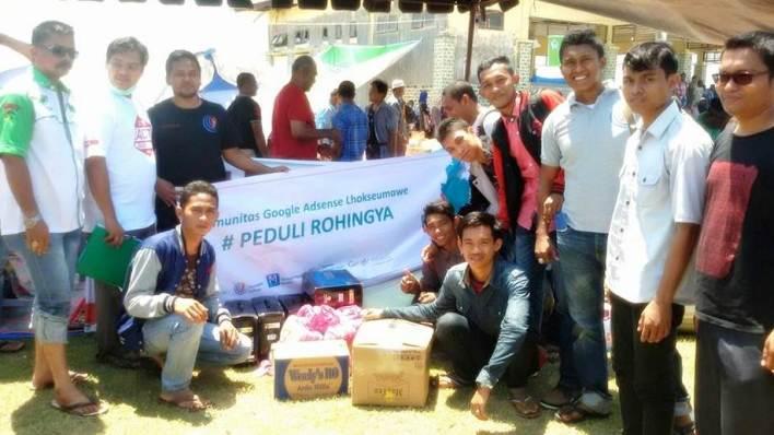 Komunitas Google Adsense Lhokseumawe Peduli Rohingya