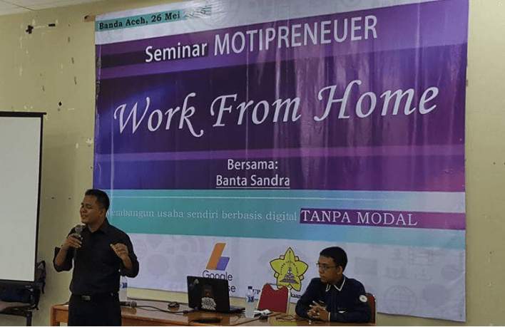Seminar Internet Marketing di Perpustkaan Universitas Syiah Kuala