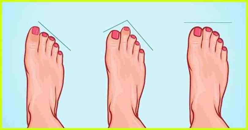 The type of feet you possess can reveal a lot about your personality