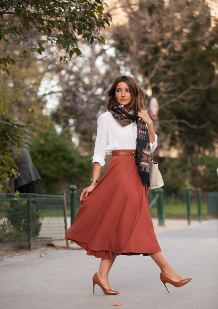 Match your skirt with shoes