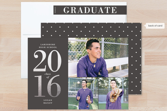 gold foil graduation announcements