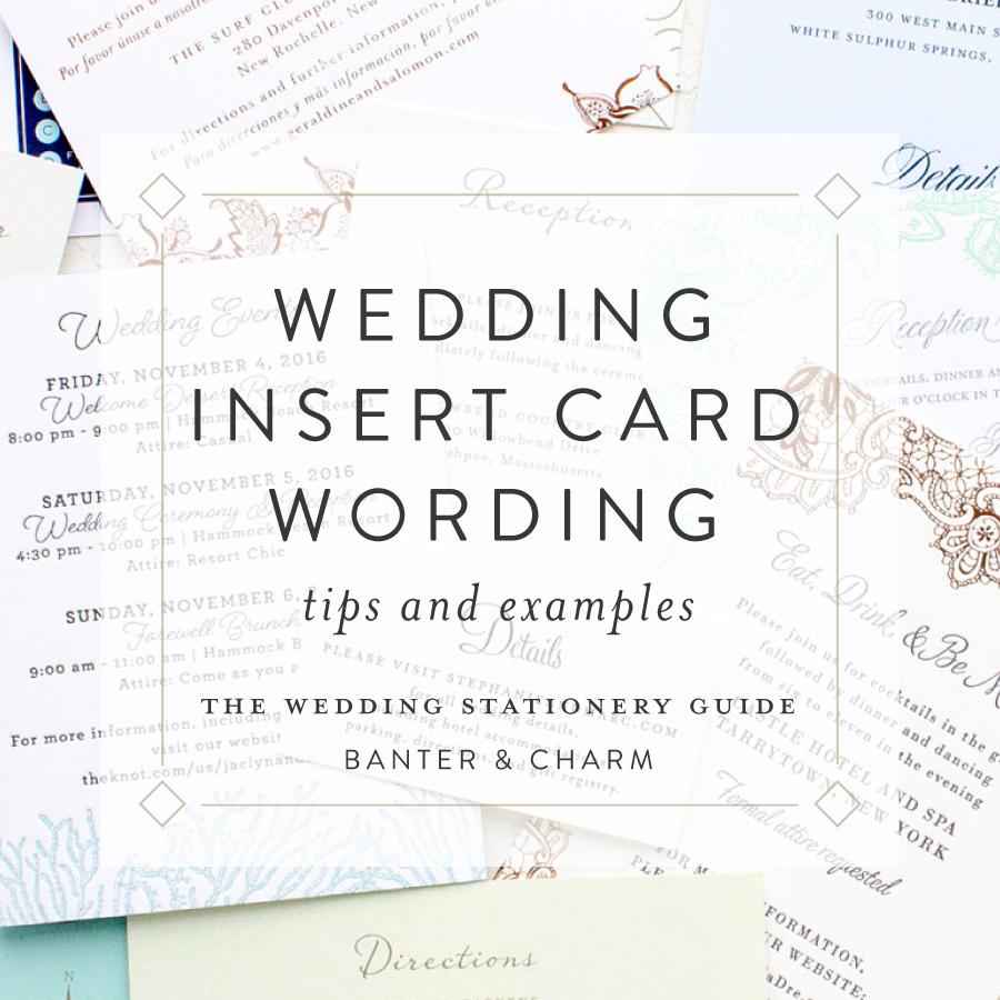 insert card wording samples