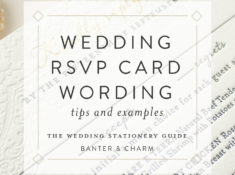 Wedding Stationery Guide: Reception Card Wording Samples