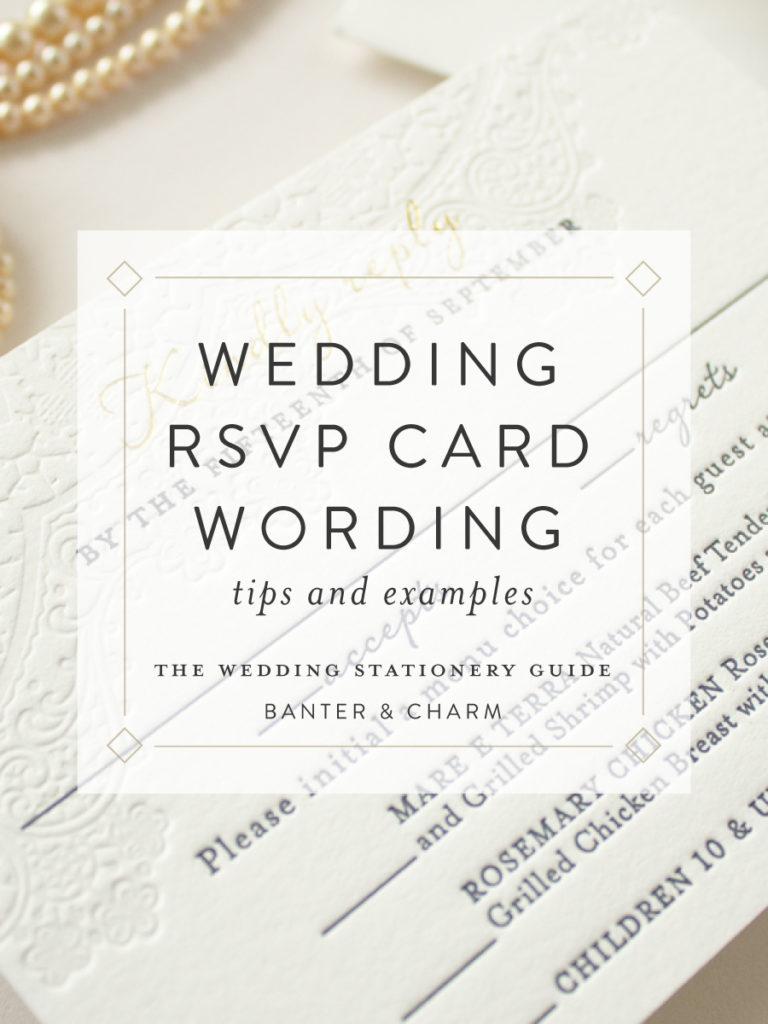 wording for rsvp cards