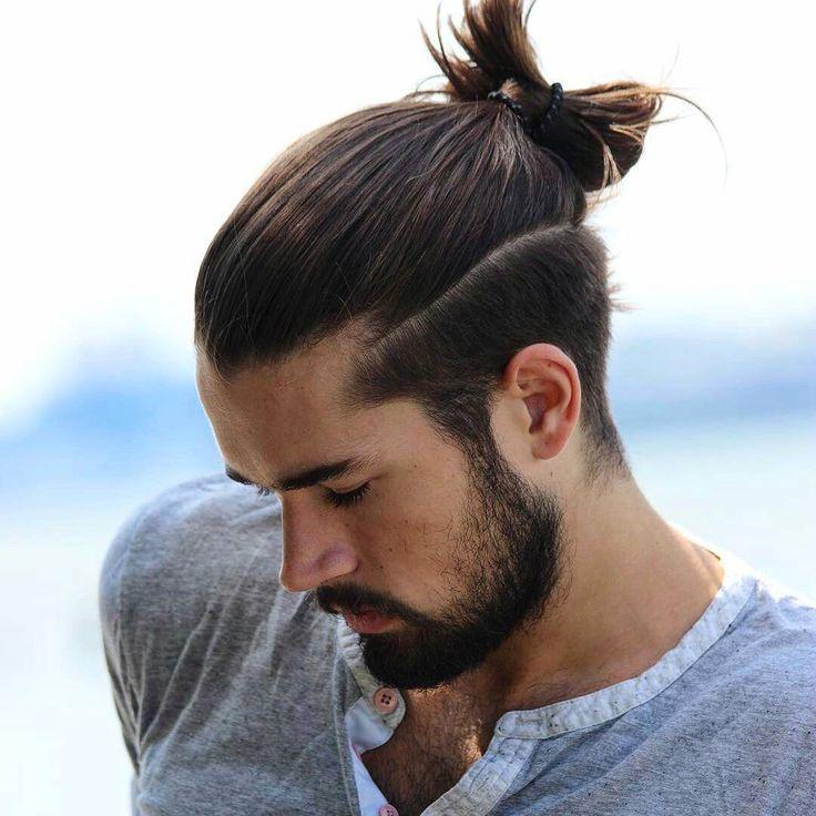 Khuôn mặt hợp với kiểu Manbun - bán tóc giả nam hói đầu