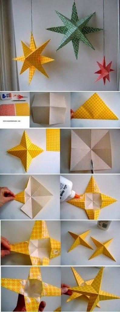 Papír kusudam csillag