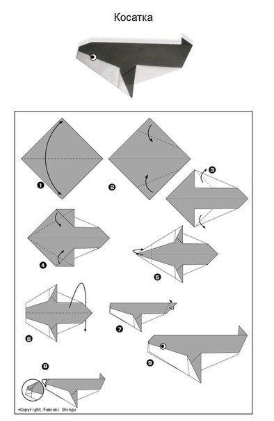 Origami kozatka