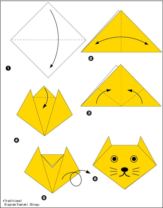 Origami kot.