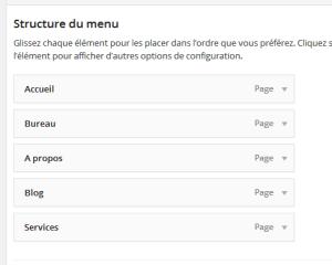 Creer un menu personnalisé wordpress 2