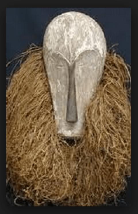 Question d'esthétique-masques traditionnels gabonais et architecture
