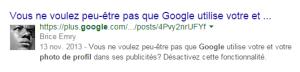 votre photo dans Google Search