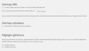 Configurer wordpress seo: Sitemap