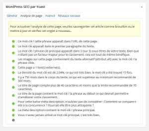 Bien configurer un article avec wordpress seo