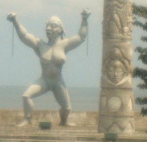 La porte de la liberté: sculpture gabonaise