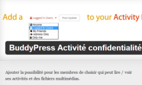 Rendre privée la page Buddypress Activity