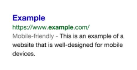 Un label mobile-friendly dans les résultats de recherche mobile