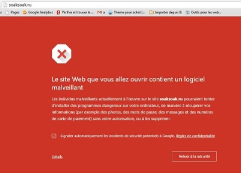 WordPress alerte au virus Soaksoak!