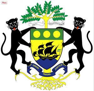 Les armoiries de la République gabonaise: le blason