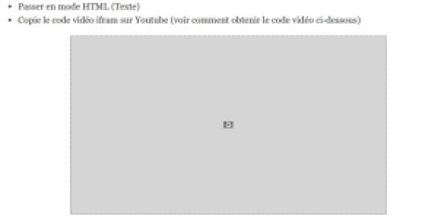 Ajouter une vidéo youtube dans un article wordpress sans plugin