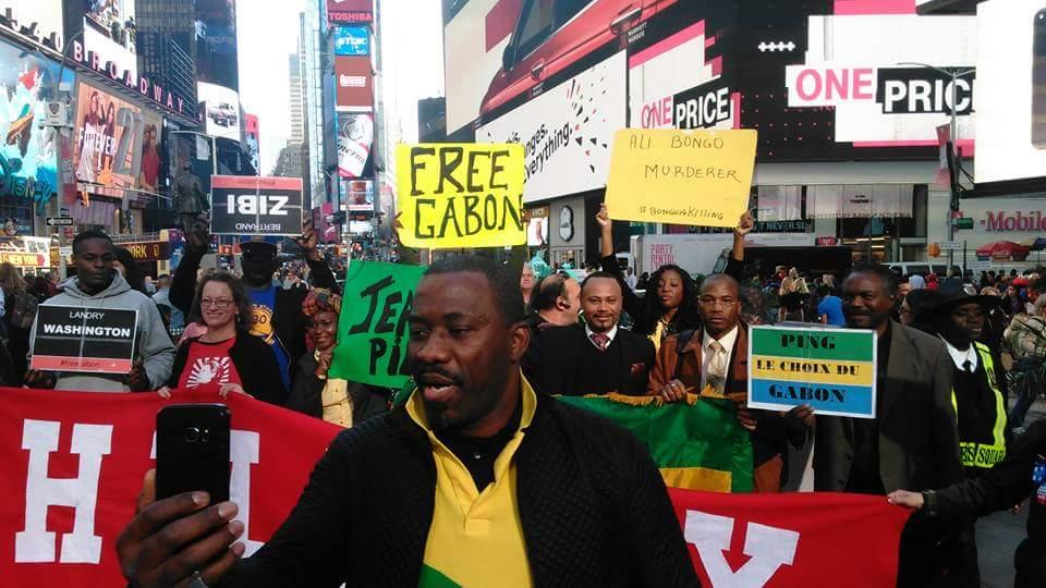 Diaspora gabonaise contre Ali Bongo Ondimba