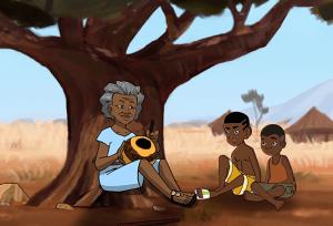 L'arbre à Palimpseste, dessin animé africain