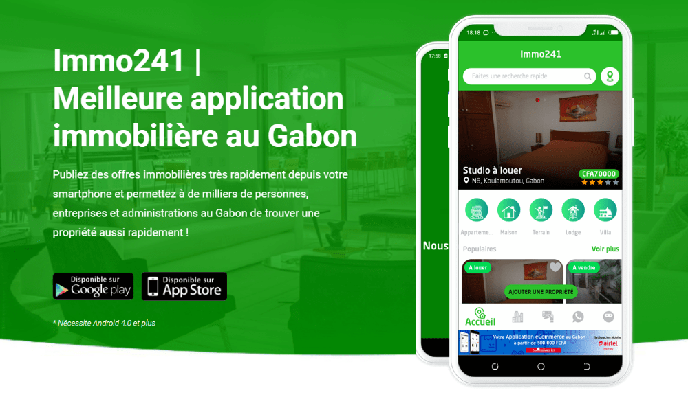 Application immobilière au Gabon