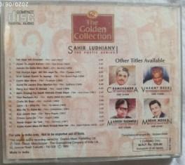 The Golden Collection Sahir ludhianvi The Poetic Genius Hindi Audio CD