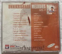 Unnikrishnan Melodies Vol-1 Tamil Audio CD.