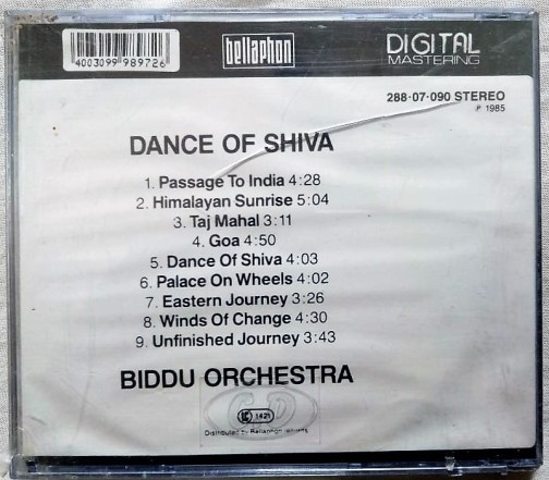 Biddu orchestra dance of shiva Audio cd (Sealed ) (1)