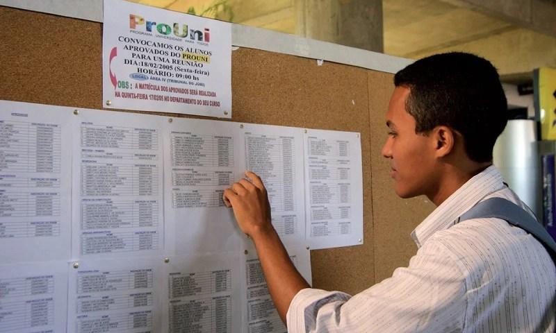 MEC abre inscrições para seleção de bolsistas do ProUni
