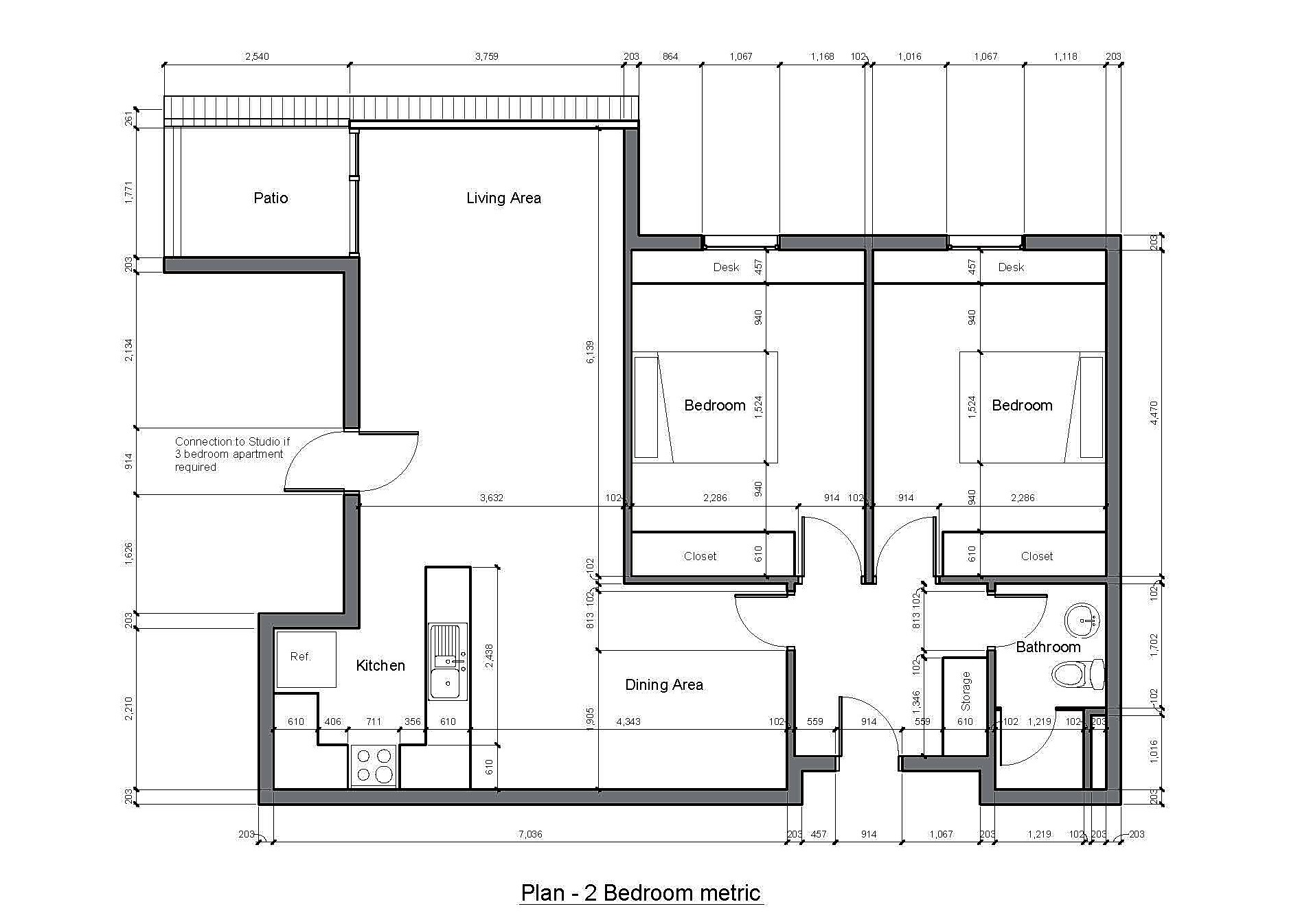 ID-GD03: Hideaway Development: Fully furnished 2-bedroom
