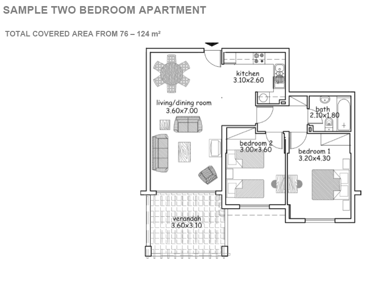 ID-CY47: Domus: Spacious 2 bedroom Apartment near the