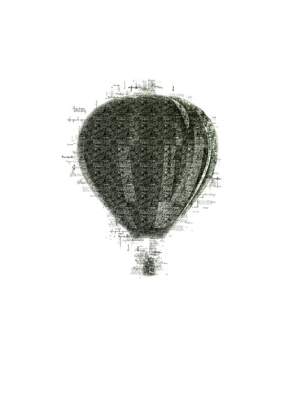 Luftballon | Illustration - Luftballon | Illustration - Digital print-selv-plakat