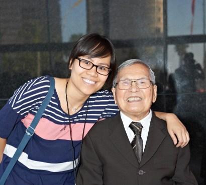 Cố nhạc sĩ Anh Bằng lúc sinh thời cùng cô Hồng Vũ Đăng Minh