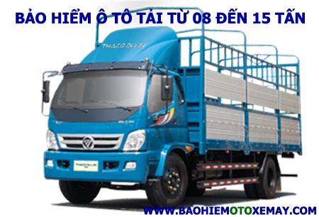 Bảo hiểm xe ô tô tải trên 8 tấn đến 15 tấn | Chiết khấu 35