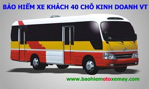 Bảo hiểm xe ô tô 40 chỗ có kinh doanh vận tải