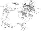 F30 Baklampor/Bakre kåpor, Baotian & BTM Reservdelar