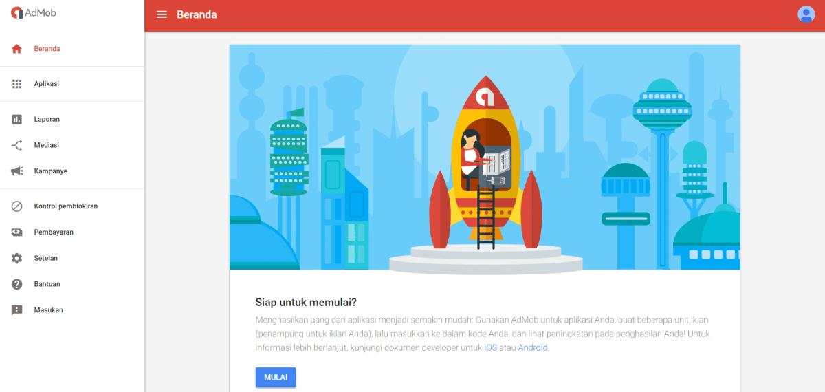 cara daftar google admob